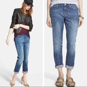 Madewell Slim Boyfriend Paint Splatter Jeans